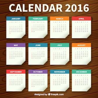 Plantilla de calendario de papel