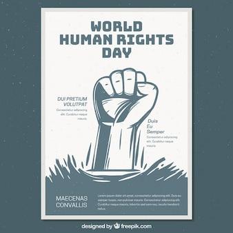 Plantilla de cartel de día mundial de los derechos humanos