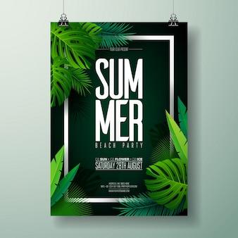 Plantilla de cartel de fiesta de verano