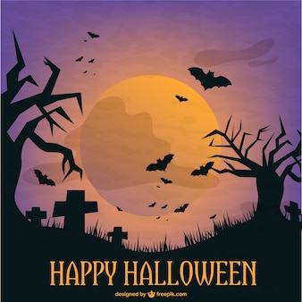 Plantilla de cementerio para Halloween