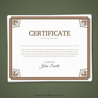 Plantilla de certificado clásico