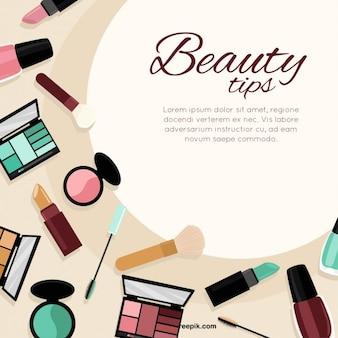 Plantilla de consejos de belleza