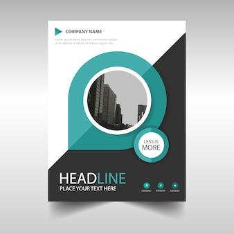 Plantilla de cover de un informe anual creativo verde