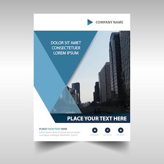Plantilla de cubierta de informe anual azul