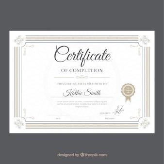 Plantilla de diploma elegante