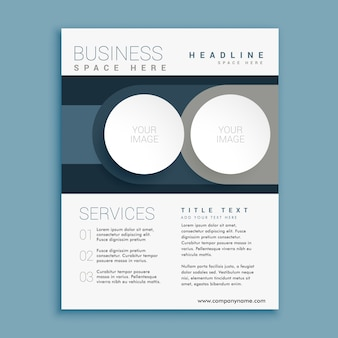 Plantilla de diseño de folleto de negocios con espacio para su imagen