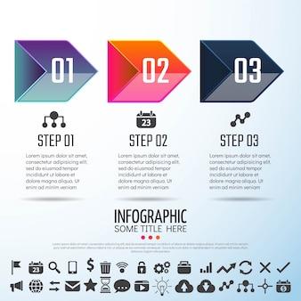 Plantilla de diseño de infografías de flecha