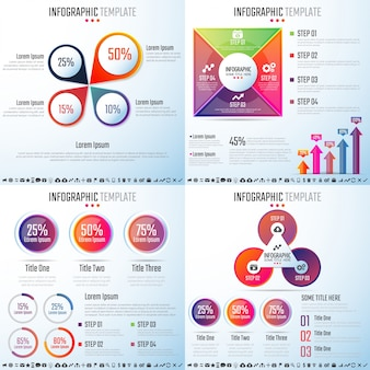Plantilla de diseño de Infografías