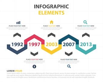 Plantilla de elementos infográficos con concepto de progreso