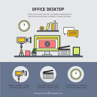 Plantilla de escritorio de oficina
