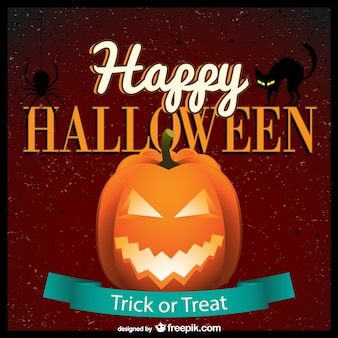 Plantilla de felicitación de Halloween