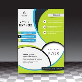 Plantilla de flyer de negocios con estilo moderno