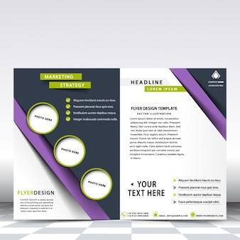 Plantilla de flyer de negocios violeta