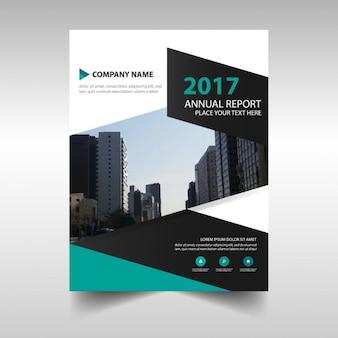 Plantilla de folleto abstracto  de reportaje anual de 2017