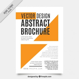 Plantilla de folleto abstracto