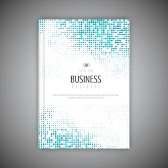 Plantilla de folleto comercial con diseño de puntos de semitono