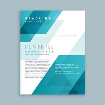 Plantilla de folleto corporativo con formas poligonales