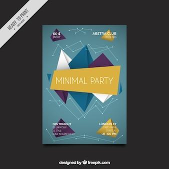 Plantilla de folleto de fiesta geométrico