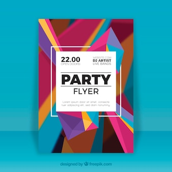 Plantilla de folleto de fiesta