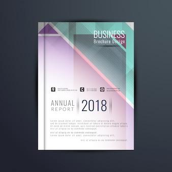 Plantilla de folleto de negocios colorida abstracta
