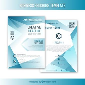 Plantilla de folleto de negocios con formas geométricas
