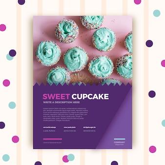 Plantilla de folleto de pastelería