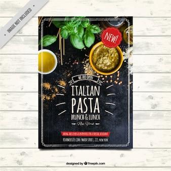 Plantilla de folleto de restaurante en estilo vintage