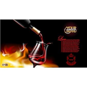 Plantilla de folleto de vino