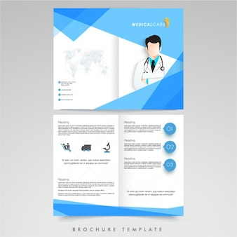 Plantilla de folleto médico