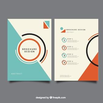 Plantilla de folleto minimalista