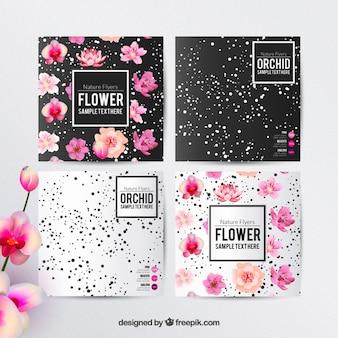 Plantilla de folletos florales