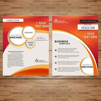 Plantilla de folletos profesionales de negocio