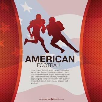 Plantilla de fondo con siluetas de jugadores de fútbol americano