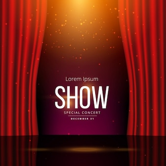 Plantilla de fondo con un escenario de teatro