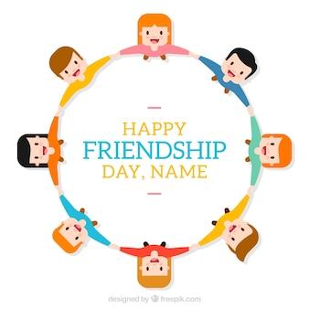 Plantilla de fondo de feliz día de la amistad