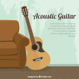 Plantilla de guitarra acústica