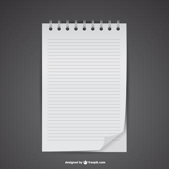 Plantilla de hoja de cuaderno