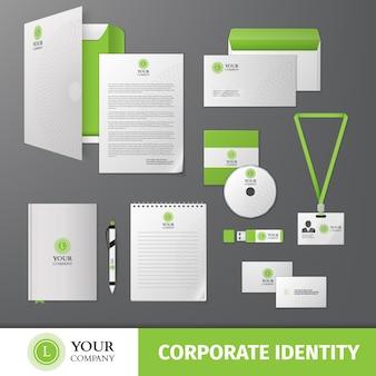 Plantilla de identidad corporativa