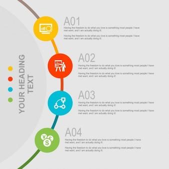 Plantilla de infografía creativa