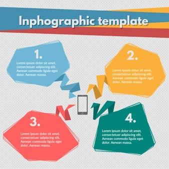 Plantilla de infografía a color