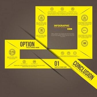 Plantilla de infografía amarilla