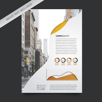 Plantilla de infografía blanca y amarilla