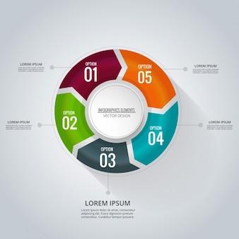 Plantilla de infografía circular