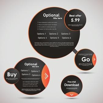 Plantilla de infografía con círculos
