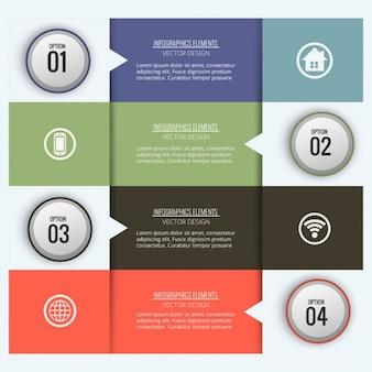 Plantilla de infografía con cuatro opciones