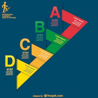 Plantilla de infografía con etiquetas gratis