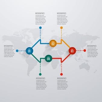 Plantilla de infografía con flechas