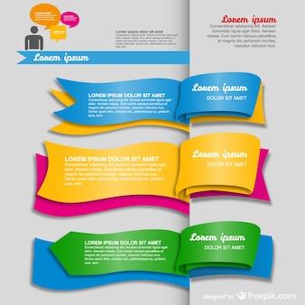Plantilla de infografía con forma de libro