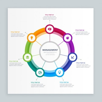 Plantilla de infografía de la gestión empresarial