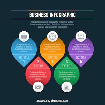 Plantilla de infografía de negocios de colores